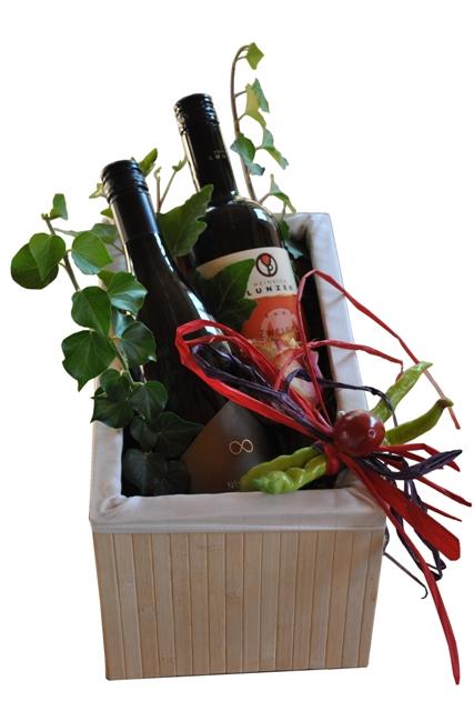"""Wein-Geschenkkorb """"Holzkiste"""""""